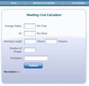 cost of meeting calc